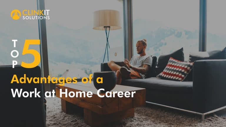 Top 5 Advantages of a Work at Home Career